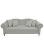 Elegancka, klasyczna sofa w stylu GONDOLA wykonana z tkaniny lnianej
