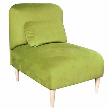 Oryginalny fotel z podnóżkiem z tkaniny MILO