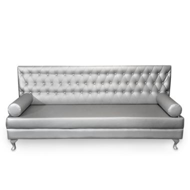 Sofa Silver - srebrna sofa pikowana