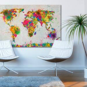 Mapa świata w kolorach