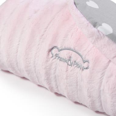Kocyk z polaru minky, najwyższej jakości 100 % bawełny i puszystego antyalergicznego wypełnienia. różowy.