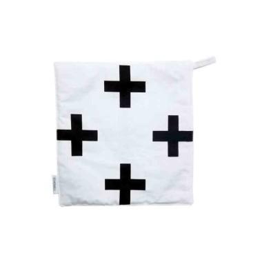 Biało-czarna łapka kuchenna podstawka
