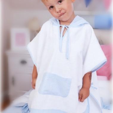 poncho dla dzieci Błękitny Obłoczek 1