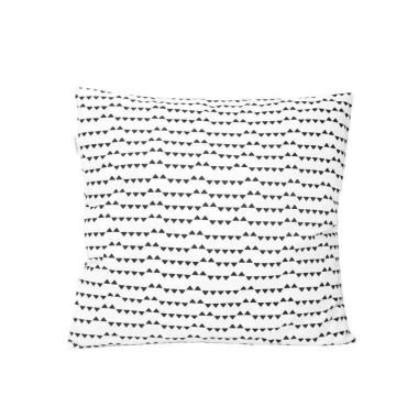 Biało-czarna poszewka na poduszkę