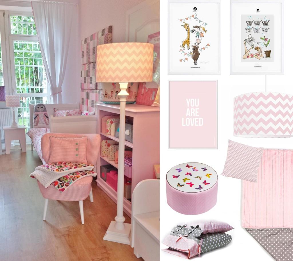 Pokoik dla dziewczynki w kolorze różowym