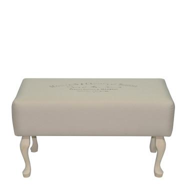 Oryginalna ławka z tkaninay bewełna z lnem