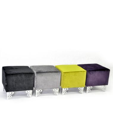 Oryginalna pufa -stołek z pluszu.