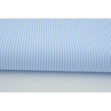 Zasłona Paski na błękitnym 2 mm