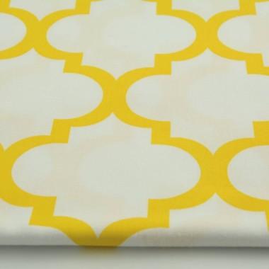 youngdeco-zasłona-koniczyna-marokańska-żołta-na-białym