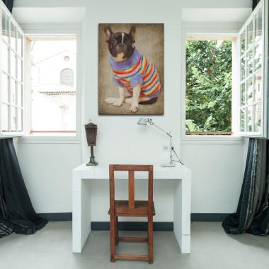 Portret bulldoga francuskiego