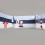Pepe - poszewka 100x135, 40x60 + ochraniacz z elementami interaktywnymi(szelest, piszczek ukryte w chmurkach na ochraniaczu oraz grzechotki w kształcie rybek, odczepiane koło ratunkowe).