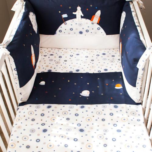Kosmos - poszewka na kołdrę i poduszkę