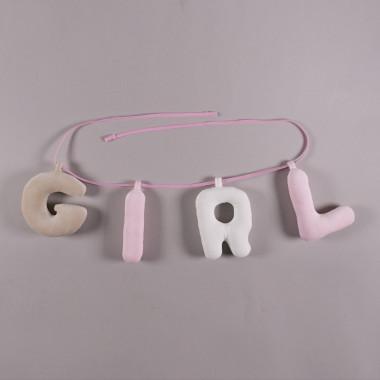 Girl - napisa na ścianę - literki na ścianę do pokoju dziewczynki