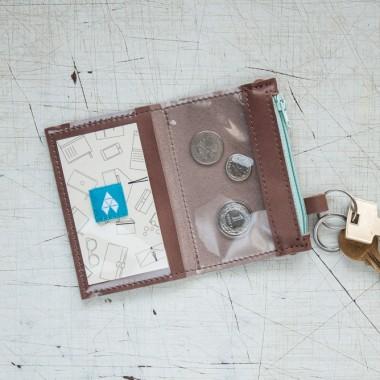 Portfel/wizytownik/etui na klucze - MIRKO / Cocoa