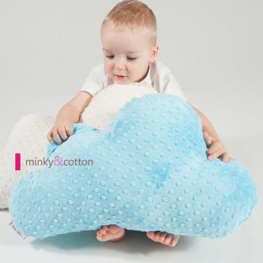 Piękna poduszka w kształcie chmurki/ obłoczka- niebieska - dla dziecka- do zabawy i dekoracji.