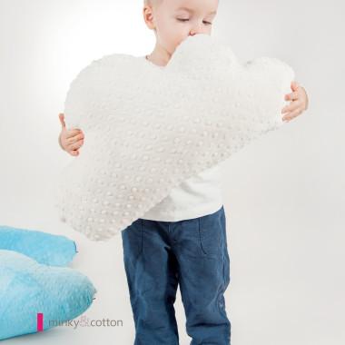 Piękna poduszka w kształcie chmurki/ obłoczka- biała - dla dziecka- do zabawy i dekoracji.