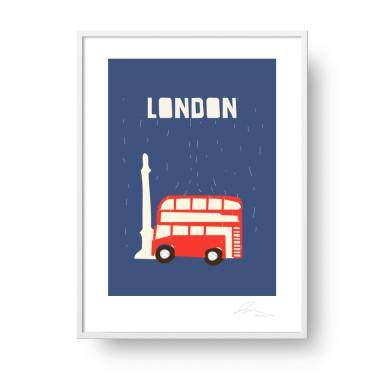 "Plakat ""London"". Subtelna, stylowa grafika w stylu skandynawskim."