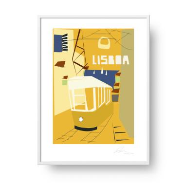 """Przepiękny, unikatowy plakat """"Lisboa""""."""