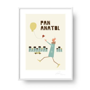 """Plakat """"Pan Anatol"""". Subtelna, stylowa grafika, która doda elegancji i ciepła każdemu dziecięcemu (i nie tylko!) wnętrzu."""