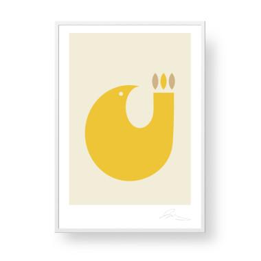 """Przepiękny, unikatowy plakat """"Bird"""". Subtelna, stylowa grafika w stylu skandynawskim doda elegancji i ciepła każdemu, nie tylko dziecięcemu, wnętrzu."""