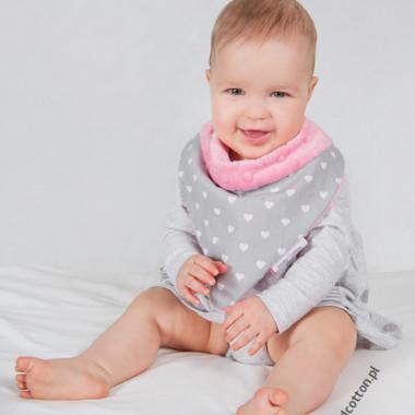 Apaszka, chustka dla dziecka minky - serduszka
