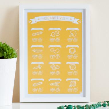 "Plakat do kuchni ""Cooking Times"" seria skandynawska"