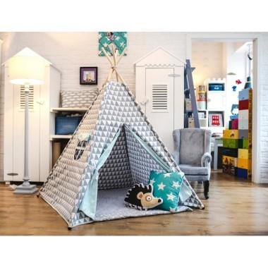 Trójkątny marzyciel- tipi - namiot do pokoju dziecka w trójkąty-pastelowy