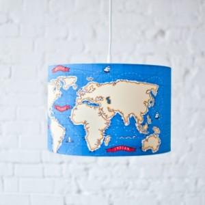 LAMPA WISZĄCA MAPA ŚWIATA