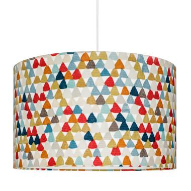Abażur kolorowe trójkąciki