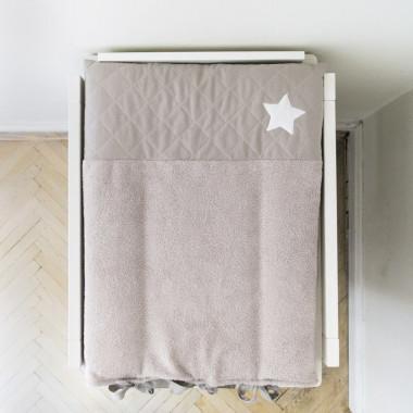 Gwiazda - mata do przewijania z pikowanym zdejmowanym pokrowcem