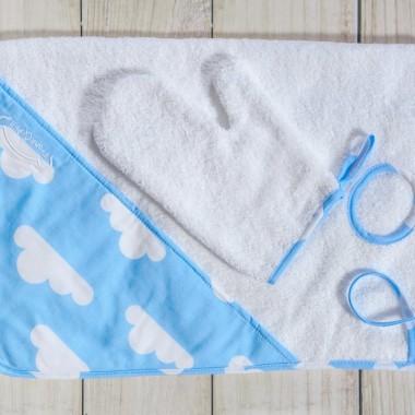 """Ręcznik ułatwiający kąpiel noworodka """"Niebieska chmurka"""""""