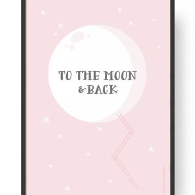 "Plakat ""Moon - Pink"""