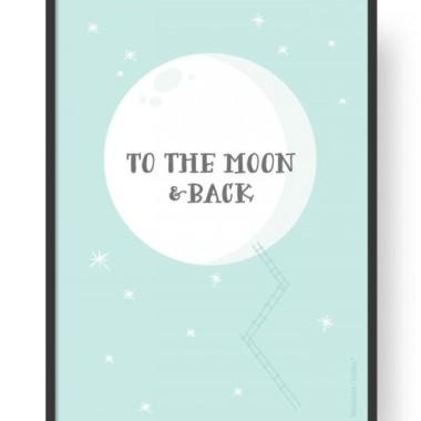 """Plakat """"Moon - Minty"""""""