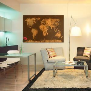 Mapa świata- obraz na ścianę