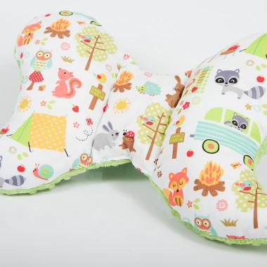Poduszka antywstrząsowa motylek - Minky&Cotton. Wzór: