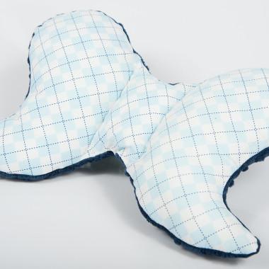 Poduszka antywstrząsowa motylek - Minky&Cotton. Wzór: romby