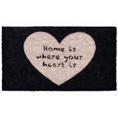 Wycieraczka wykonana ze strzyżonego włókna kokosowego. Pomysł na prezent na parapetówkę/ do nowego mieszkania.Home.