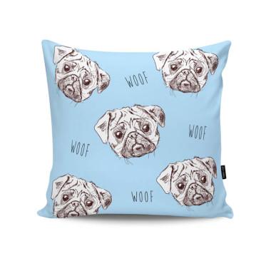 Poduszka - Pugs in Blue . Niebieska.Pieski.