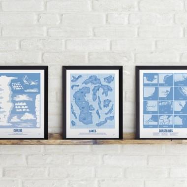 Zestaw Małego Podróżnika - plakaty 30x40