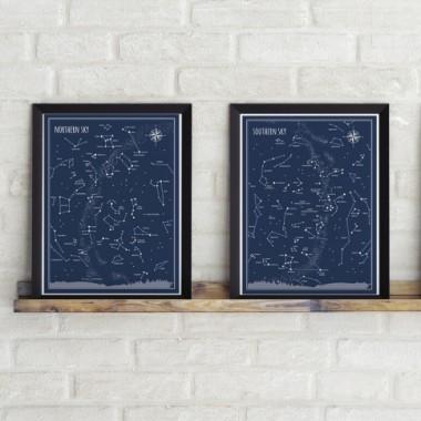 """Plakaty """"Niebo północne"""" & """"Niebo Południowe"""""""