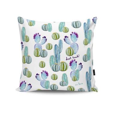 Poduszka - Cactus (Don`t touch!) z kaktusami. Zo-han.