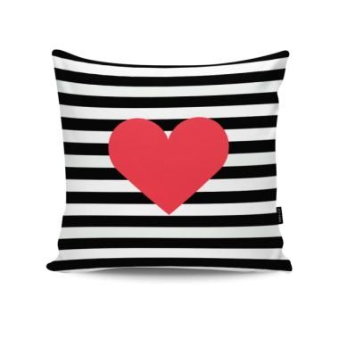 Poduszka dekoracyjna/ jasiek z sercem. Walentynki.