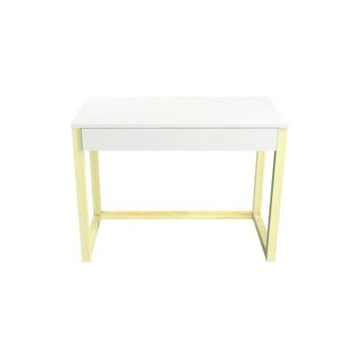 Biurko DES5/1SZ z jedną szufladami na całej szerokości blatu. Wygodne, funkcjonalne i oryginalne.