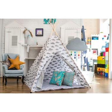 Rezolutny nicpoń- tipi - namiot do pokoju dziecka w chmurki.Teepee.