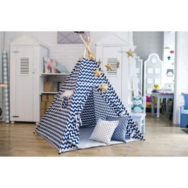 Granatowy zachwyt - tipi - namiot do pokoju dziecka.Teepee.