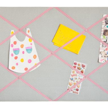 moodboard tasiemka rozowa na szarym 2