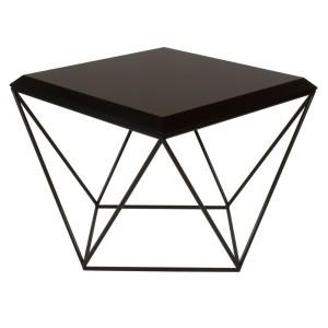 TULIP to minimalistyczny stolik kawowy o ciekawiej geometrycznej formie.Czarny.Loft, scandi, industrial.