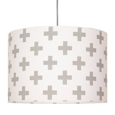 Abażur - Lampa sufitowa krzyżyki szare