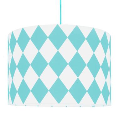 Lampa sufitowa romby turkusowe