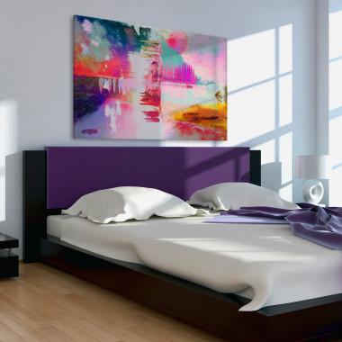 Pastelove przeboje - nowoczesny obraz na płótnie.Vaku-Dsgn.Kolorowy obraz do sypialni.
